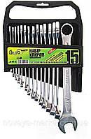 Набор ключей комбинированных Alloid 15 единиц