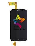 Дисплей для мобильного телефона HTC Desire V/T328w, черный, с тачскрином