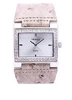 Элегантные часы из 100 % меди, покрытой родием (группа платиновых), с ремешком из искусственной кожи/