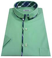 Мужская рубашка классическая с коротким рукавом №10-17 506/15-6114