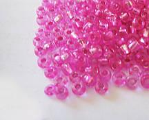 Бисер круглый темно розовый №10 2.3 мм  (110г) прозрачный