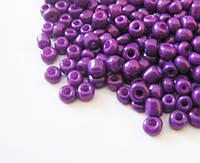 Бисер светло фиолетовый №8/0 3.1мм 110г
