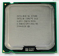 Процессор Intel Core2 Duo E7400 2.80GHz/3M/1066 s775, tray