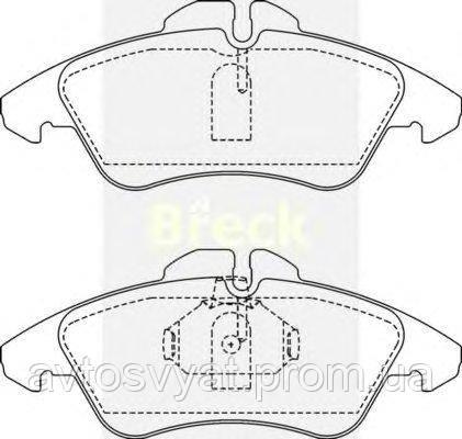 Колодки тормозные (передние) MB Sprinter 208-316 96- Ate