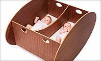 Кроватка-колыбель для близнецов ДМ-049
