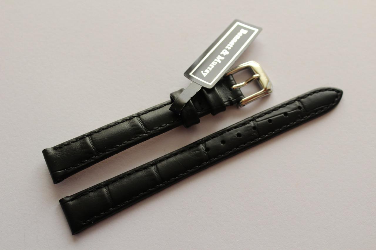Кожаный ремень Bennett&Murray-ремень из натуральной кожи черный под крокодил 12 мм