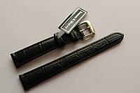 Кожаный ремень Bennett&Murray-ремень из натуральной кожи черный под крокодил 14 мм