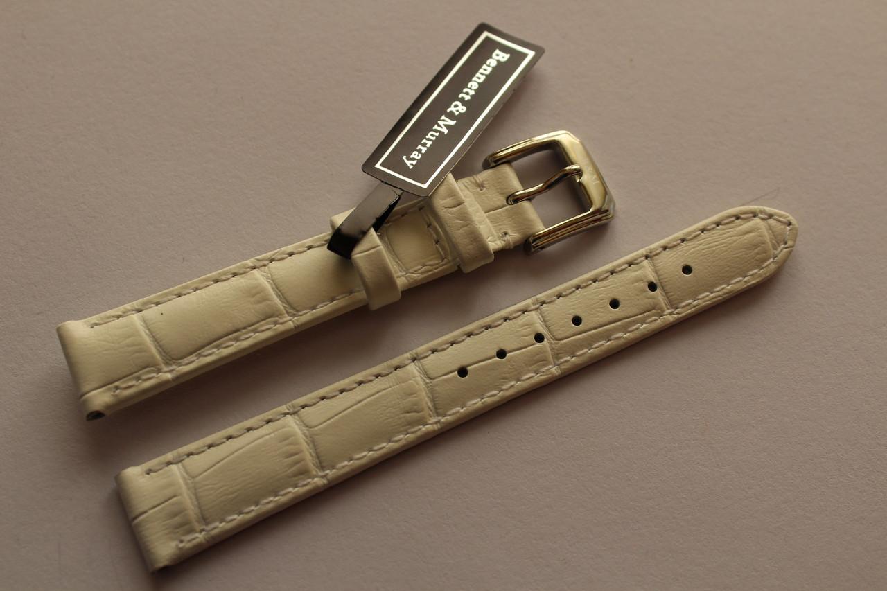 Кожаный ремень Bennett&Murray-ремень из натуральной кожи белый под крокодил 14 мм