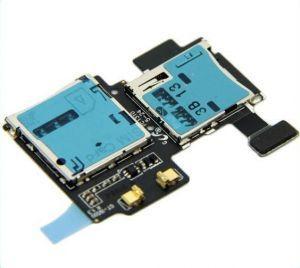 Коннектор SIM-карты и карты памяти для Samsung i9500 Galaxy S4, i9505, i337, i545, M919, на шлейфе