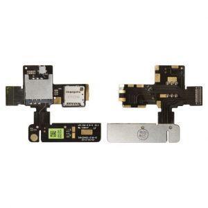 Коннектор SIM-карты и карты памяти для HTC T320e One V G24, на шлейфе
