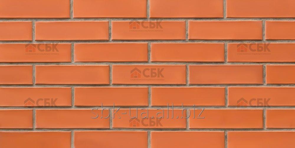 Красно-морковный облицовочный кирпич СБК