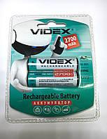 Аккумулятор АА Videx 2700 mA,R6 пальчиковый