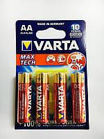 Батарейка Varta max tech AA,LR6,алкалиновая,пальчиковая