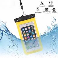 Водонепроницаемый чехол для телефона Желтый