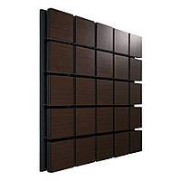 Акустична панель Ecosound Tetras Wood Brown 50х50см 53мм колір коричневий