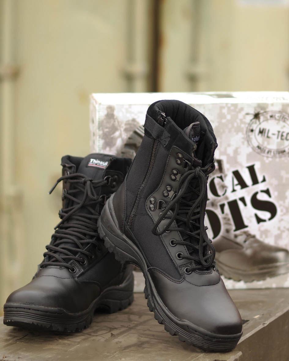 Ботинки тактические с застёжкой-молнией MIL-TEC черные 38