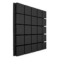 Панель з акустичного поролону Ecosound Tetras Black 50х50см, 50мм, колір чорний графіт