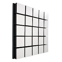 Акустична панель Ecosound Tetras Wood White 50х50см 53мм колір білий