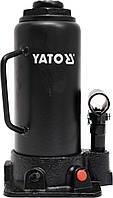 Домкрат гидравлический бутылочный 12т, h 230-465мм, YATO YT-17005
