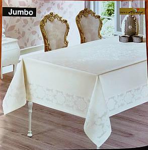 """Скатерть элитная """"JUMBO"""" 160х220, кремовый"""
