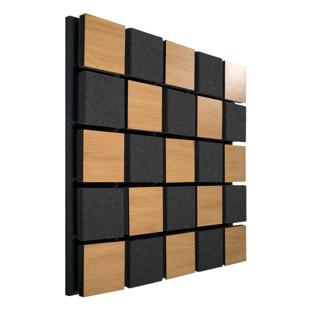 Акустическая панель Ecosound Tetras Acoustic Wood Cream 50x50см 33мм цвет светлый дуб