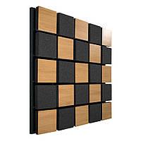 Акустична панель Ecosound Tetras Acoustic Wood Cream 50х50см 33мм колір світлий дуб
