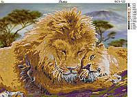 Схема для вышивки бисером Львы