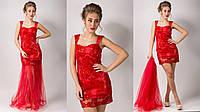 Женское вечернее платье материал сеточка высокого качества с вышивкой и эксклюзивным пайеточным декором