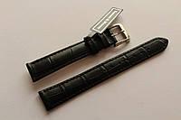 Кожаный ремень Bennett&Murray-ремень из натуральной кожи черный под крокодил 16 мм