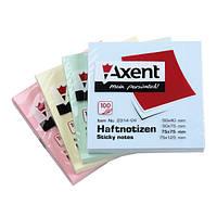 Блок бумаги Axent 2314-A с липким слоем 75x75мм, 100 листов  2314-04-A