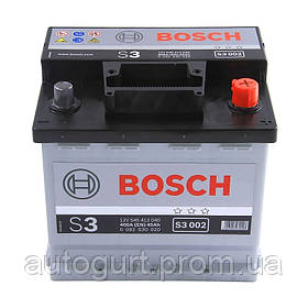 """Аккумулятор Bosch S3 45Ah, EN 400 правый """"+"""" 207х175х190 (ДхШхВ)"""