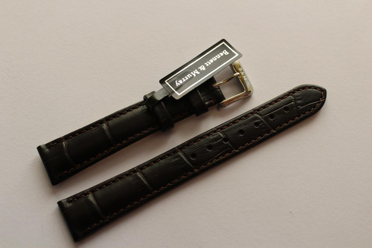 Кожаный ремень Bennett&Murray-ремень из натуральной кожи коричневый под крокодил 16 мм