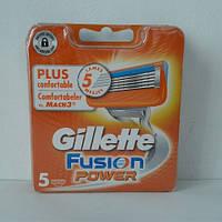 Кассеты мужские для бритья Gillette Fusion Power 5 шт. ( Жиллетт Фюжин Павер оригинал Германия ) , фото 1