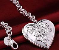 """Браслет с медальоном для фото """"Сердце Тебе"""""""
