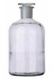 Бутыль 250 мл с пришлифованной пробкой, узкое горло (светлый)