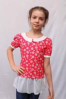 Детская блузка с цветочным принтом