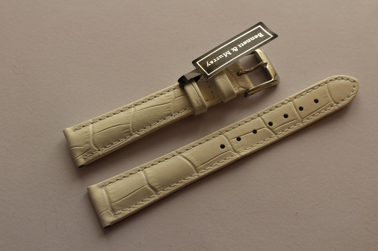 Кожаный ремень Bennett&Murray-ремень из натуральной кожи белый под крокодил 16 мм