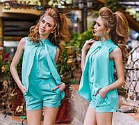 Костюм блуза обманка и шорты № ат 1132 гл
