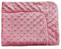 Детский плед одеяло плюшевый  в коляску, люльку 75х100 см