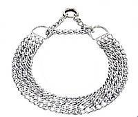 Ошейник-цепочка Sprenger для собак 4 ряда, хромированная сталь, 70 см