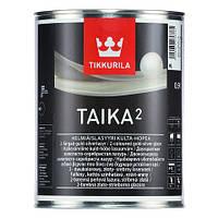 Лазурь TIKKURILA TAIKA 2 1л (Золотистый/Серебристый) - Двухцветная лессирующая водоразбавляемая лазурь