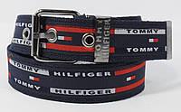 Текстильный ремень для джинсов Tommy Hilfiger 4800-102 темно-синий, ширина 43 мм