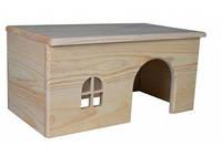 Домик для кроликов (дерево) 40х20х23 см