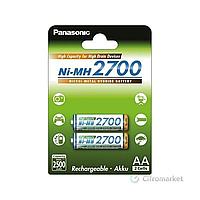 Panasonic high Сapacity r6/aa 2700mah 2bl (bk-3hgae/2be)