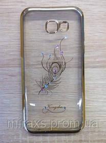 Силиконовый чехол Samsung A520 (2017), Beckberg gold