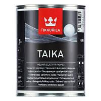 Перламутровая лазурь Tikkurila Taika 0,9л (Золотистый)