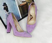 Туфли женские на широком каблуке