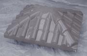 "Крышка для забора LAND BRICK ""черепица"" серая 430х530 мм"