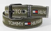 Текстильный ремень для джинсов Tommy Hilfiger 4800-103 хаки, ширина 43 мм, фото 1