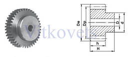 Зубчастая шестерня FM 1.0 модуль  15mm-40 зуб., фото 3